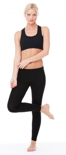 Zwarte legging voor dames 95% katoen