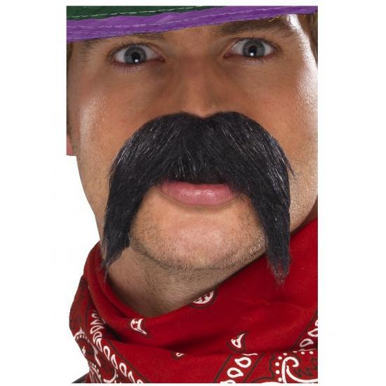 Zwarte Mexicaanse bandieten snor