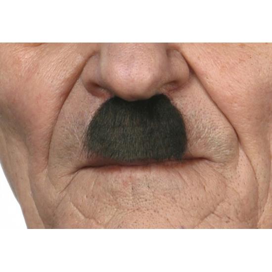 Zwarte mini snor Charlie Chaplin