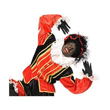 Zwarte Piet handschoenen 52 cm lang
