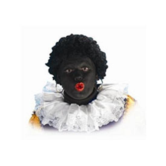 Zwarte Piet kraag van stof