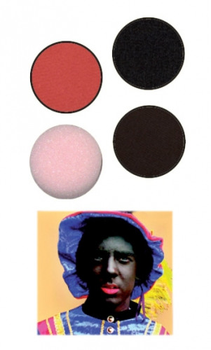 Zwarte Piet schmink 3 delig