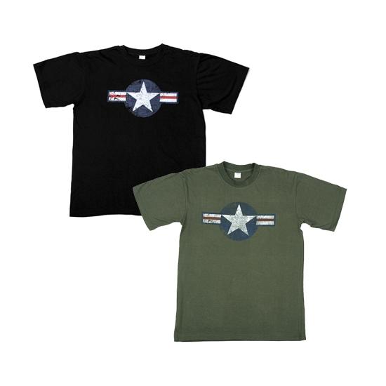 Zwarte USAF t shirts voor heren