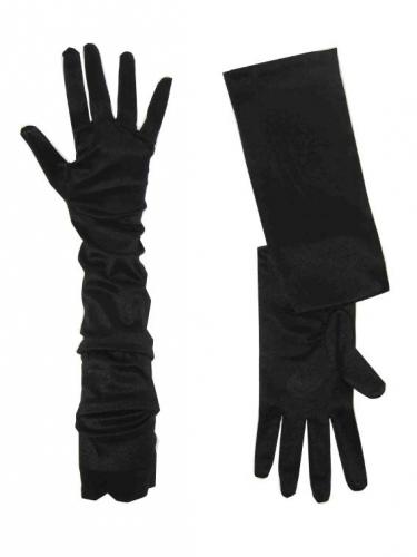 Zwarte verkleed handschoenen