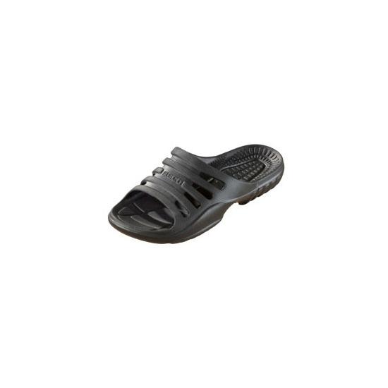 Zwarte zwembad slippers voor heren