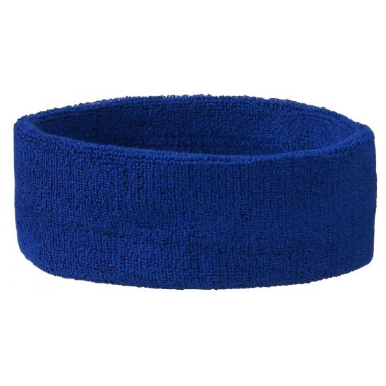 Zweetbandjes haarbandje blauw
