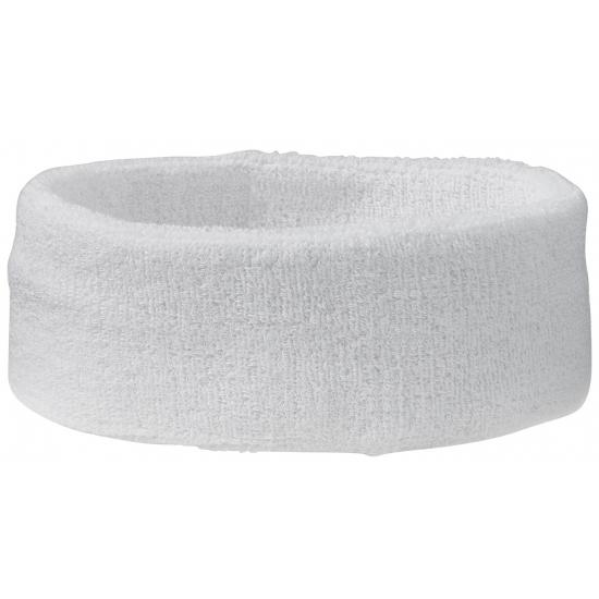 Zweetbandjes haarbandje wit