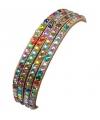 Armband met gekleurde steentjes