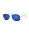 Aviator zonnebril zilver voor volwassenen