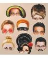 Beroemdheden maskers 8 stuks