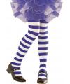 Blauw met wit gestreepte peuter panty