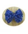 Blauw strikje met glinsterende diamantjes