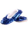 Blauwe bling pantoffels voor dames