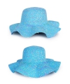 Blauwe dames strand hippie hoed