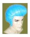 Blauwe elvis pruik heren