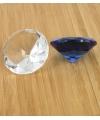 Blauwe glazen diamant 5 cm