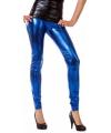 Blauwe glimmende dames legging