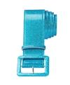 Blauwe glitter riem 120 cm