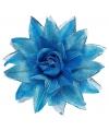 Blauwe haarbloem met glitters