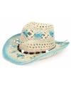 Blauwe ibiza hoed