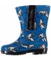 Blauwe jongens regenlaarzen met haaien