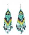 Blauwe kralen oorbellen