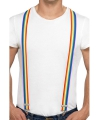 Bretels in regenboog kleuren
