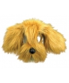 Bruine hond masker met vacht
