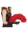 Burlesque waaier rood
