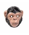 Chimpansee apen masker 3d plastic 22cm