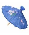 Chinese paraplu donkerblauw 40 cm