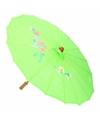Chinese paraplu groen 40 cm
