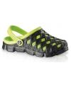 Clogs dames waterschoenen zwart groen