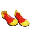 Clown schoenen geel met rood