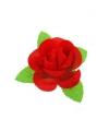 Corsage met rode roos