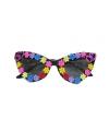 Damesbril met multi color bloemetjes