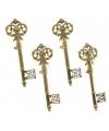 Decoratie sleutels goud 4 stuks 15 cm