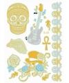 Doodshoofd metallic goud plak tatoeages