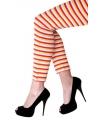 Dorus legging rood geel wit gestreept