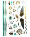 Egyptische metallic plak tatoeages