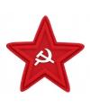 Embleem rode ster met sikkel en hamer