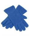 Fleece handschoenen kobalt
