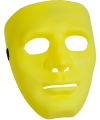 Geel gezichtsmasker