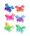 Gekleurde vlinder haarclip