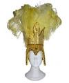 Gele braziliaanse hoofdtooi voor dames