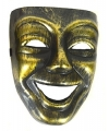 Gezichtsmasker goud zwart