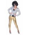 Glimmende gouden legging voor dames