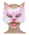Glitter kat masker roze