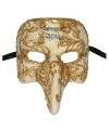 Goud venetiaans masker met grote neus