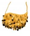 Gouden tasje met pailletten